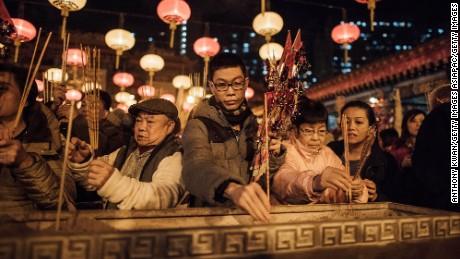 LNY hotspot: Kowloon's Wong Tai Sin Temple.