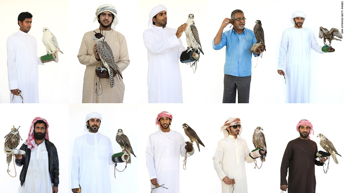 <strong>Falconers and their birds: </strong>Falcons are an important part of life in the UAE. Falconry traditions stretch back to the days when Bedouin families used them to hunt meat in the desert. In 2012, falconry was recognized on UNESCO's Intangible Cultural Heritage of Humanity list.