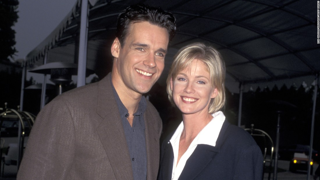 Actress Tracey Needham, seen here with David James Elliott, celebrates her milestone on March 28.