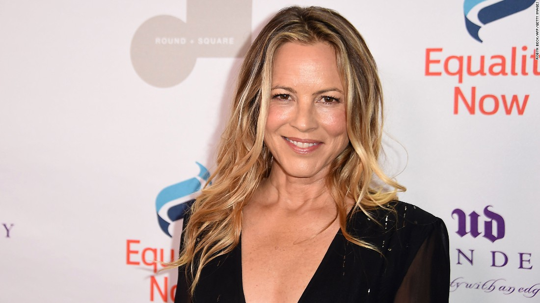 Actress Maria Bello gets her cake on April 18.
