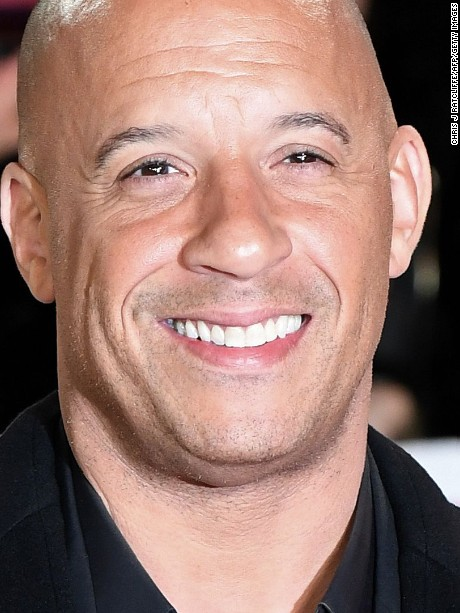 """US actor Vin Diesel poses upon arrival to attend the European Premiere of the film """"xXx: Return of Xander Cage"""" in London on January 10, 2017. / AFP / Chris J Ratcliffe        (Photo credit should read CHRIS J RATCLIFFE/AFP/Getty Images)"""