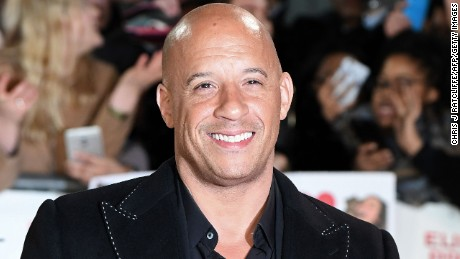"US actor Vin Diesel poses upon arrival to attend the European Premiere of the film ""xXx: Return of Xander Cage"" in London on January 10, 2017. / AFP / Chris J Ratcliffe        (Photo credit should read CHRIS J RATCLIFFE/AFP/Getty Images)"