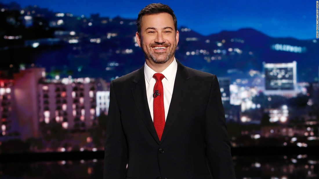 Late-night TV host Jimmy Kimmel is 50 on November 13.