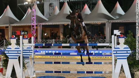 CANNES, FRANCE - JUNE 09:  Kevin Staut rides during the '30th International Cannes Jumping' Global Champion Tour 2011 on June 9, 2011 in Cannes, France.  (Photo by Marc Piasecki/Getty Images)