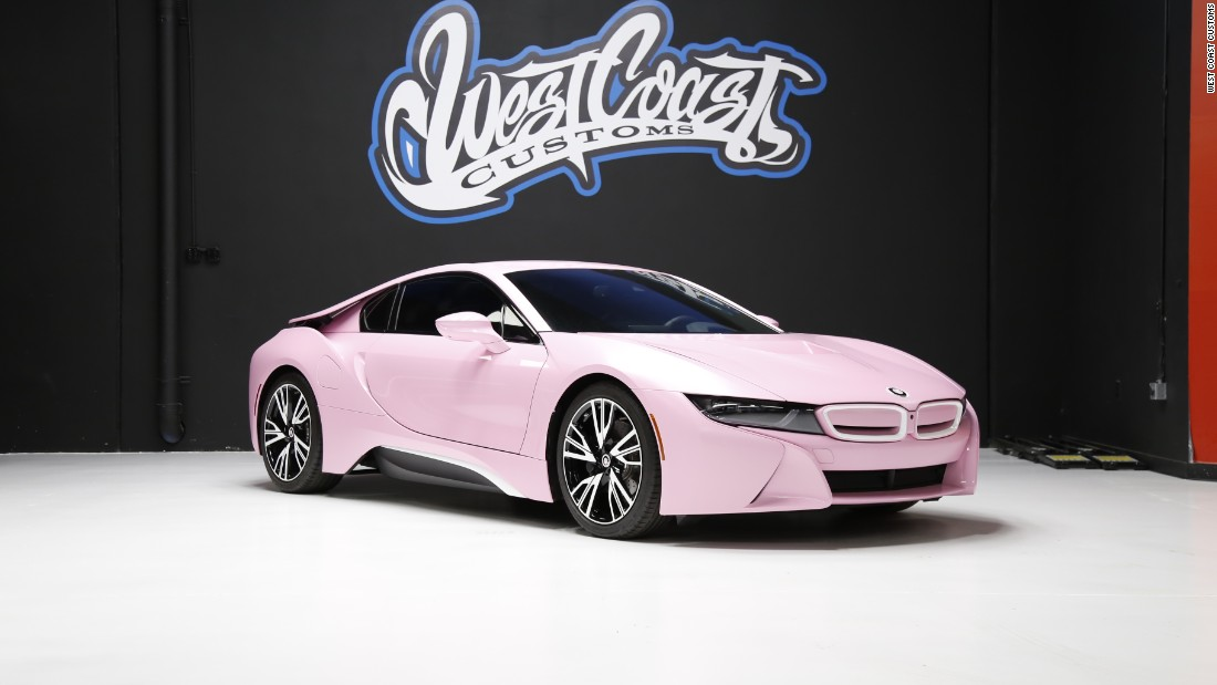 This Pink BMW i8 was designed for makeup artist and entrepreneur Jeffree Star.