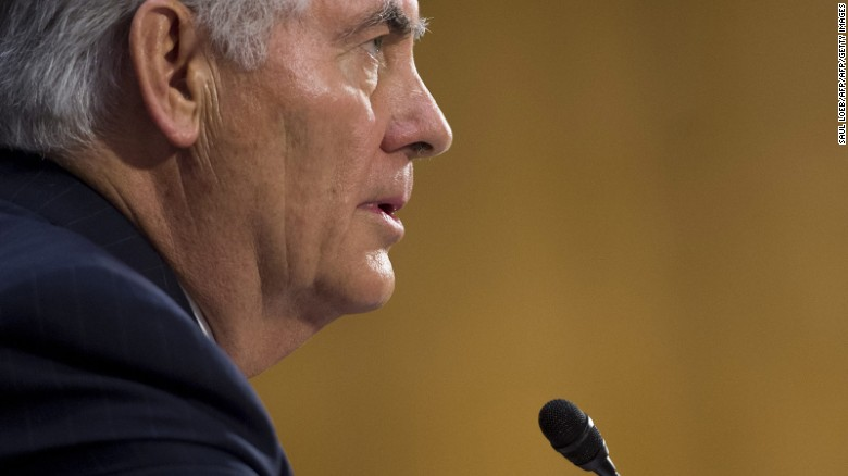 Former ExxonMobil executive Rex Tillerson testifies during his confirmation hearing for Secretary of State before the Senate Foreign Relations Committee on Capitol Hill in Washington, DC, on January 11, 2017.