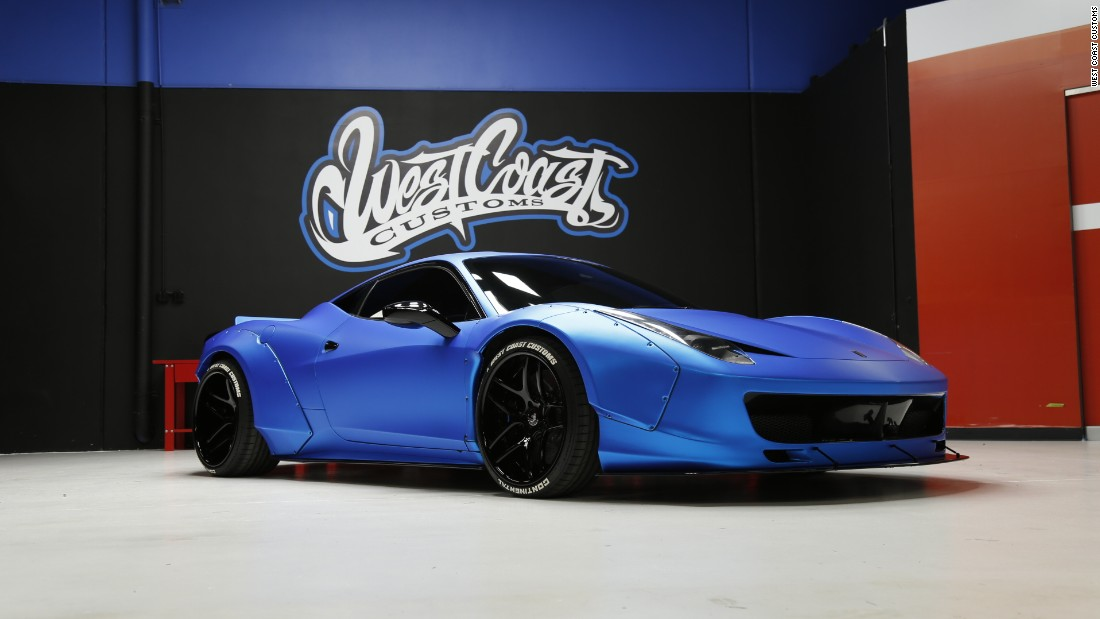 Justin Bieber had this Ferrari 458 Liberty Walk customized.