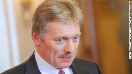 Dmitry Peskov, spokesman for  Vladimir Putin.