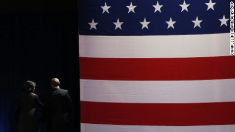 President Barack Obama and First Lady Michelle Obama leave the stage after President Obama gives his presidential farewell address at McCormick Place in Chicago, Tuesday, Jan. 10, 2017. (AP Photo/Charles Rex Arbogast)
