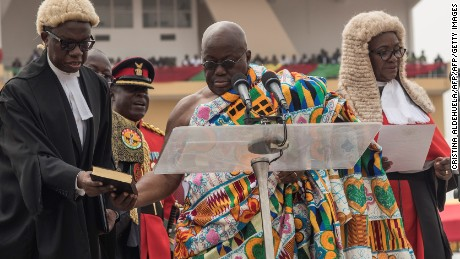 Parts of Akufo-Addo's inauguration speech were taken from the words of two former US Presidents.