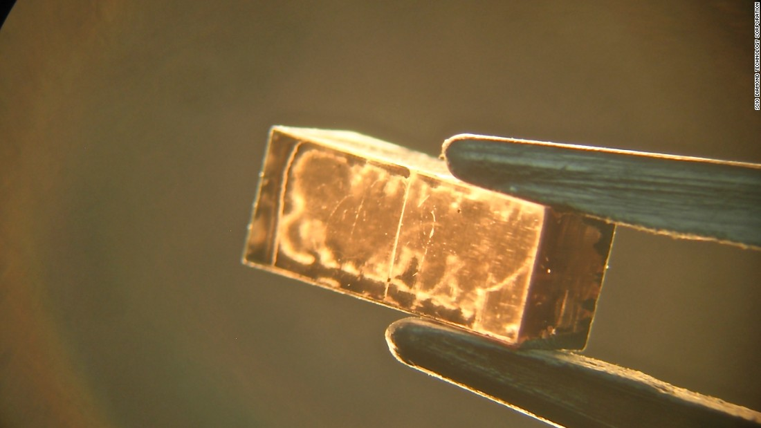 Lab-grown diamonds are made from slithers of carbon material known as seeds.