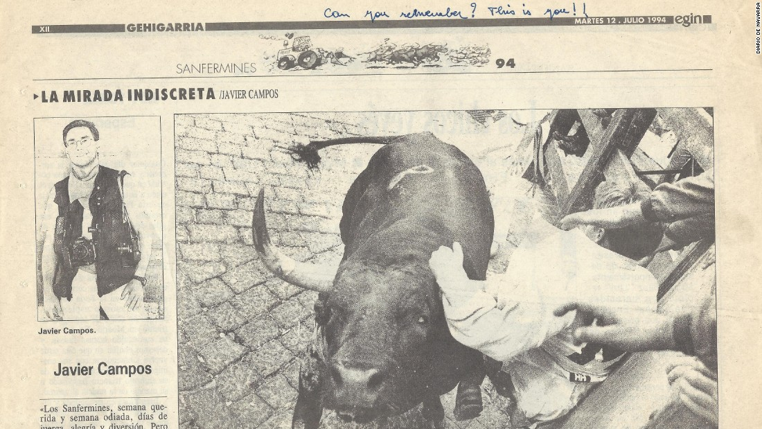 "During the summer of 1992, Hock took part in the ""Running of the Bulls"" in Pamplona, Spain."