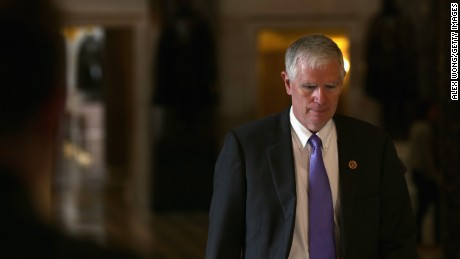 Rep. Mo Brooks (R-AL) on his way to the House Chamber for a procedural vote on the House floor September 28, 2013 on Capitol Hill in Washington, DC.