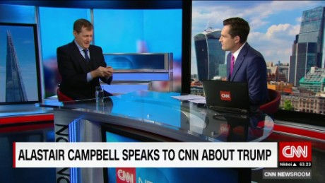 exp  CNNI Newsroom Max Foster Alastair Campbell _00002001