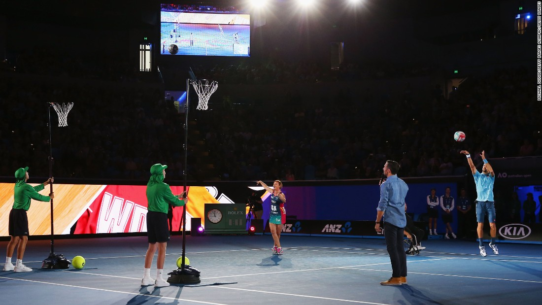The 29-year-old then took a lesson from former Australia netball captain Sharelle McMahon, a two-time world and Commonwealth champion with the national team.