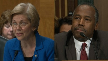 Warren to Carson: Will HUD benefit Trump?
