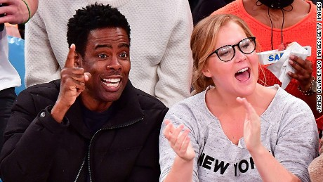NEW YORK, NY - DECEMBER 20:  Zahra Savannah Rock, Chris Rock, Amy Schumer and guest attend Indiana Pacers Vs. New York Knicks game at Madison Square Garden on December 20, 2016 in New York City.  (Photo by James Devaney/GC Images)