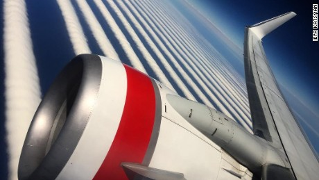 Ilya Katsman was on a flight across Australia when he photographed the spectacular clouds.