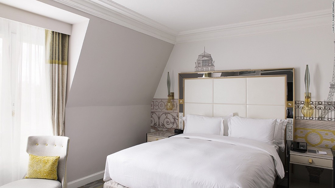<strong>Room 591, Paris: </strong>Once again, the standard room offers decorative flourishes that help place it in the surrounding city.