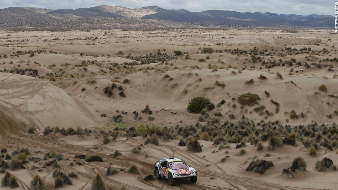 The 12 punishing stages push muscles and metal to the edge as the drivers take on varying temperatures and altitudes. The seventh stage (shown here) crossed rugged Bolivian landscape between La Paz and Uyuni.