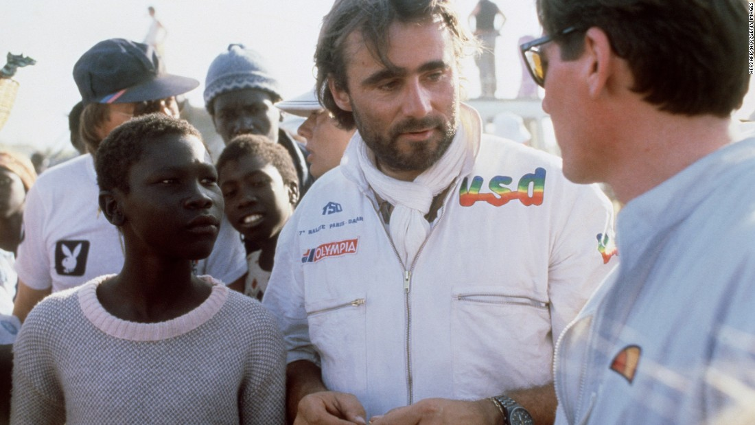 The race began in 1978 on another continent, and was then known as the Paris-Dakar Rally. It was the brainchild of the late racer Thierry Sabine (center). He got lost driving in the Tenere region of North Africa's Sahara desert, and decided it would be an amazing setting for a race.