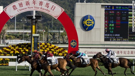 Not just for professional punters, Sha Tin's Chinese New Year race is a family-friendly activity.