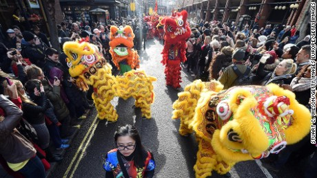 Lionizing London. The British capital throws the biggest Chinese festival outside Asia.