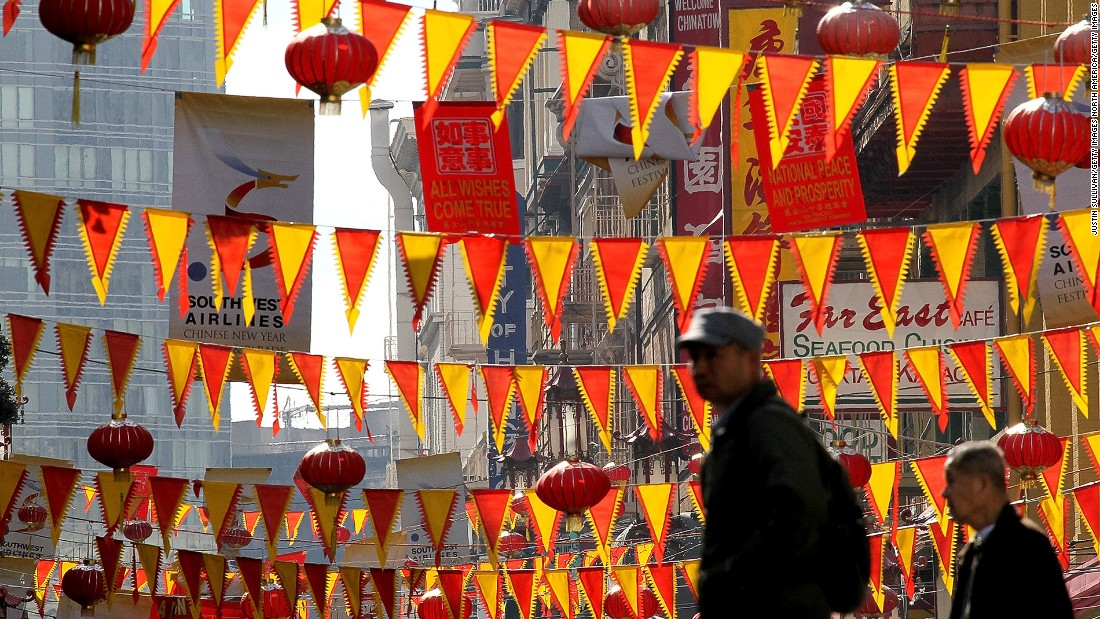 <strong>Chinatown, San Francisco: </strong>As the biggest Chinatown outside Asia, San Francisco's Chinese quarter can be touristy the rest of the year but it's the perfect place to enjoy Chinese New Year.