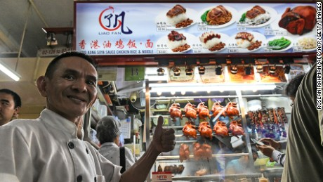 Singaporean chef Chan Hon Meng's Chicken Rice and Noodle stall has always been a hit with locals.