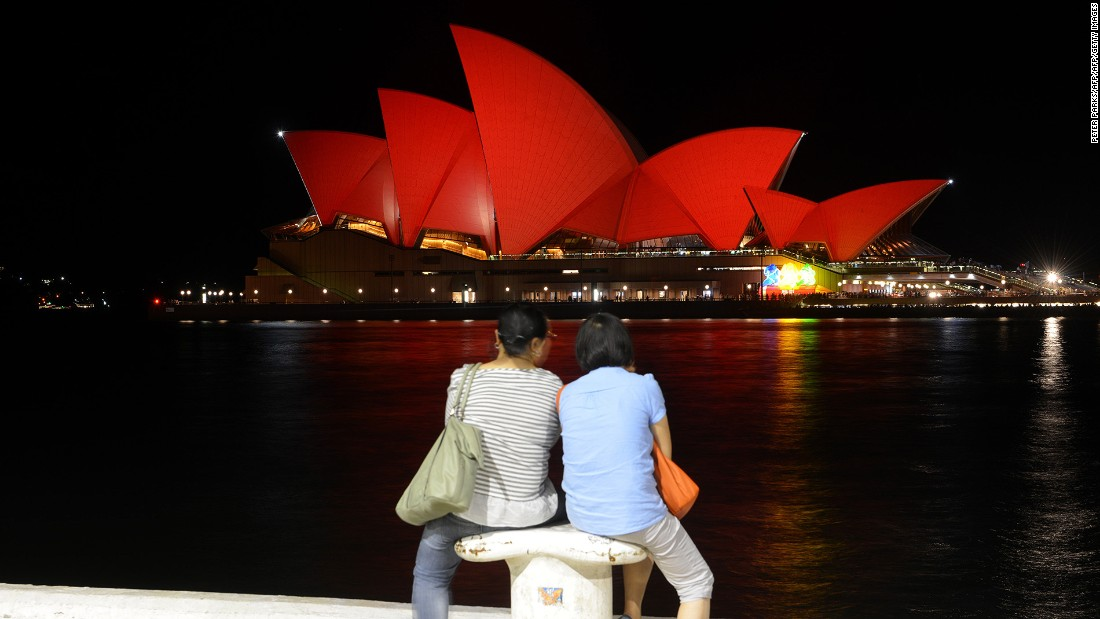 <strong>Around the city, Sydney: </strong>Many of the city's iconic landmarks including the Sydney Opera House, Sydney Harbour Bridge and Town Hall will be lit up with red lights in honor of Chinese New Year.