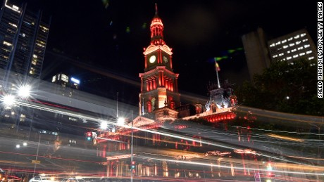 Sydney Town Hall will be lit up red during the Spring Festival.