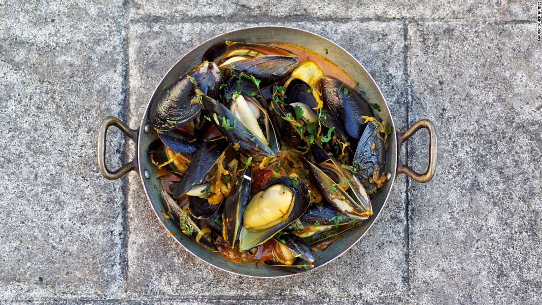 Also on the menu: Classic moules marinières. The restaurant is the second restaurant for Verpiand and his wife and business partner, Monica Bui.