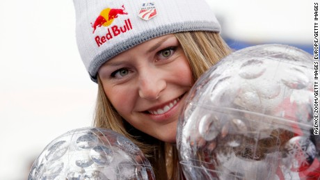 Vonn won the first of three straight World Cup overall titles in 2008.