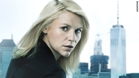 "Claire Danes in a promo shot for Season 6 of ""Homeland."""