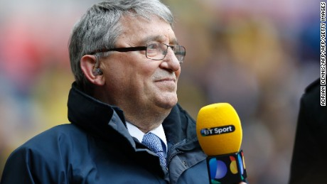 Former England and Watford manager Graham Taylor attends the FA Cup semi-final football match between Crystal Palace and Watford at Wembley Stadium in London on April 24, 2016. / AFP / ADRIAN DENNIS / NOT FOR MARKETING OR ADVERTISING USE / RESTRICTED TO EDITORIAL USE        (Photo credit should read ADRIAN DENNIS/AFP/Getty Images)