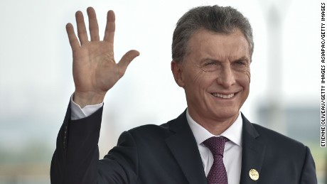 HANGZHOU, CHINA - SEPTEMBER 04:  President Mauricio Macri of Argentina arrives at the Hangzhou Exhibition Center to participate in G20 Summit, on  September 4, 2016 in Hangzhou, China.   World leaders are gathering in Hangzhou for the 11th G20 Leaders Summit from September 4 to 5.  (Photo by Etienne Oliveau/Getty Images)