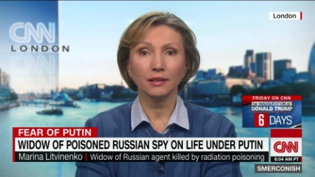 Spy's widow: Putin plays 'dirty game'