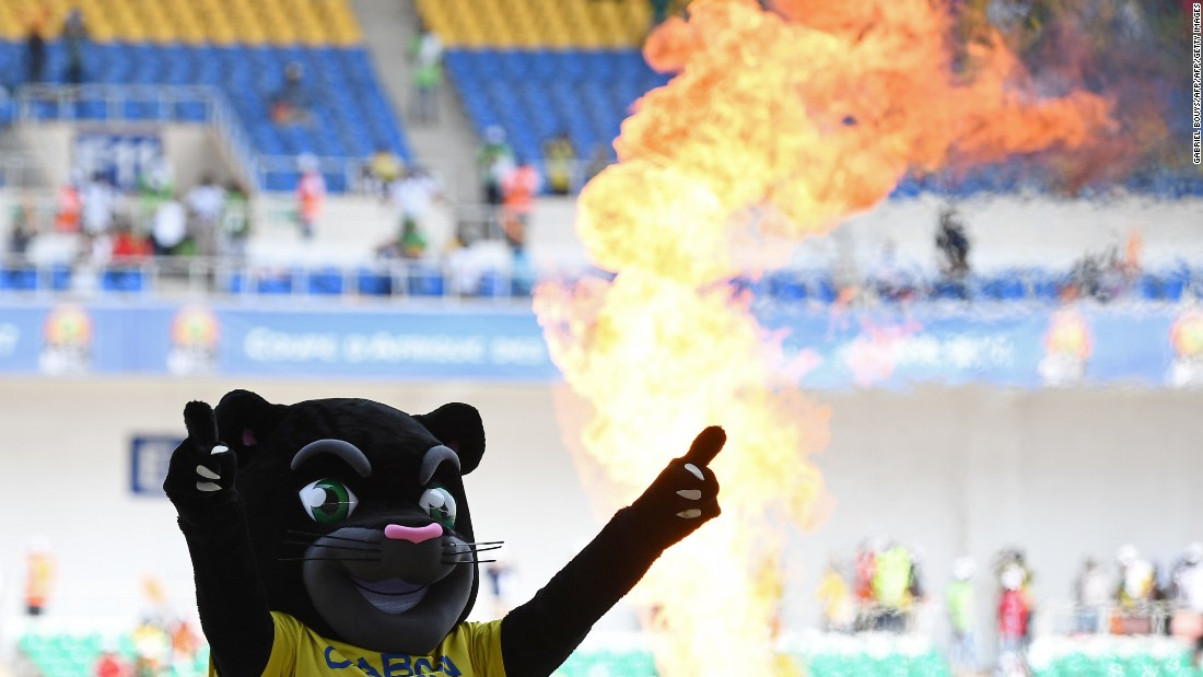 Fans were treated to musical performances before the game kicked off and were whipped up by Samba, the mascot of the 2017 Africa Cup of Nations.
