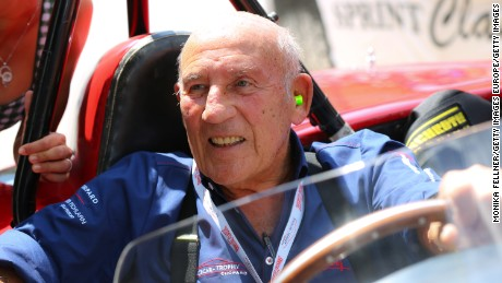 British motor racing legend, Stirling Moss.
