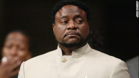 Bishop Eddie Long prepares to speak on September 26, 2010 at New Birth Missionary Baptist Church near Atlanta.