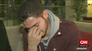 Mojahed got emotional when recalling saying goodbye to his mother.