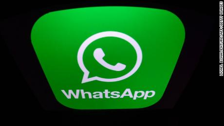 A picture taken on December 28, 2016 in Paris shows the logo of WhatsApp mobile messaging service. / AFP / Lionel BONAVENTURE        (Photo credit should read LIONEL BONAVENTURE/AFP/Getty Images)