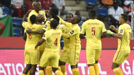 Zimbabwe stunned Algeria by taking a 2-1 lead in the match in Franceville.