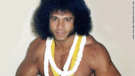 "Jimmy ""Superfly"" Snuka during his heyday as a wrester."