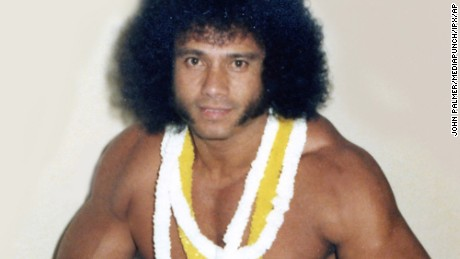 """New York, NY:September 2, 2015: Jimmy """"Superfly"""" Snuka has been charged with the 1983 murder of his girlfriend Nancy Argento. Snuka pictured in file photos.  Credit: John Palmer/MediaPunch/IPX"""