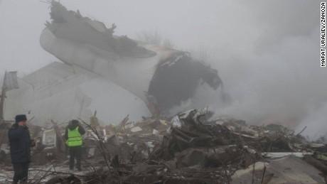 Cargo plane crashes in Kyrgyzstan
