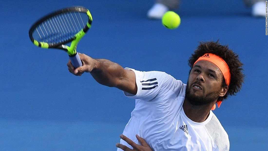 ... while Jo-Wilfried Tsonga, a previous finalist in Melbourne, beat Brazilian Thiago Monteiro in four sets: 6-1, 6-3, 6-7, 6-2.