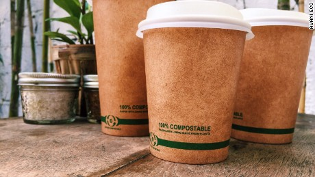compostable coffee cups made from plants