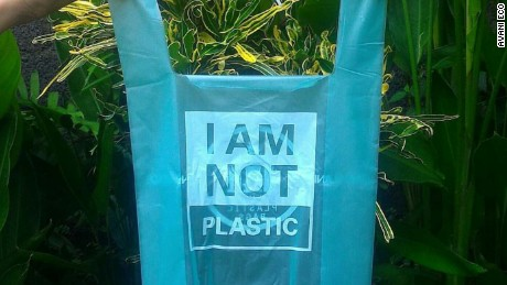 Cassava plastic bag from Avani Eco.