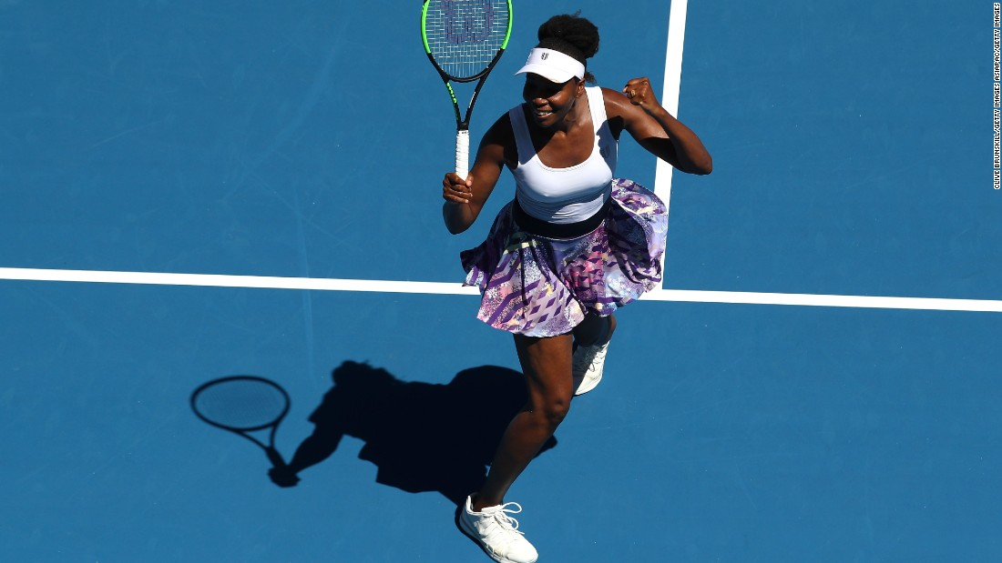 ... while Venus Williams, who turns 37 this year, edged out Ukraine's Kateryna Kozlova 7-6, 7-5.